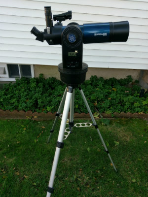 Picture of meade ETX 80 on use