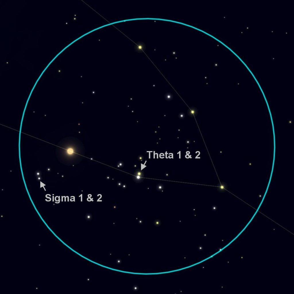 Hyades as seen through 10x50 binoculars.