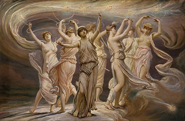 The Pleiades of Greek mythology.