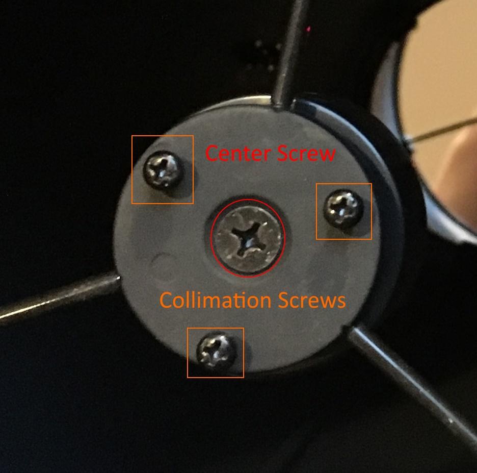 screws in secondary mirror