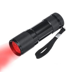 red flashlight