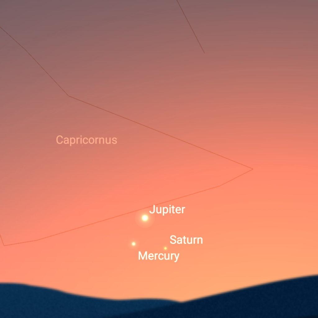 January 10th, evening sky.