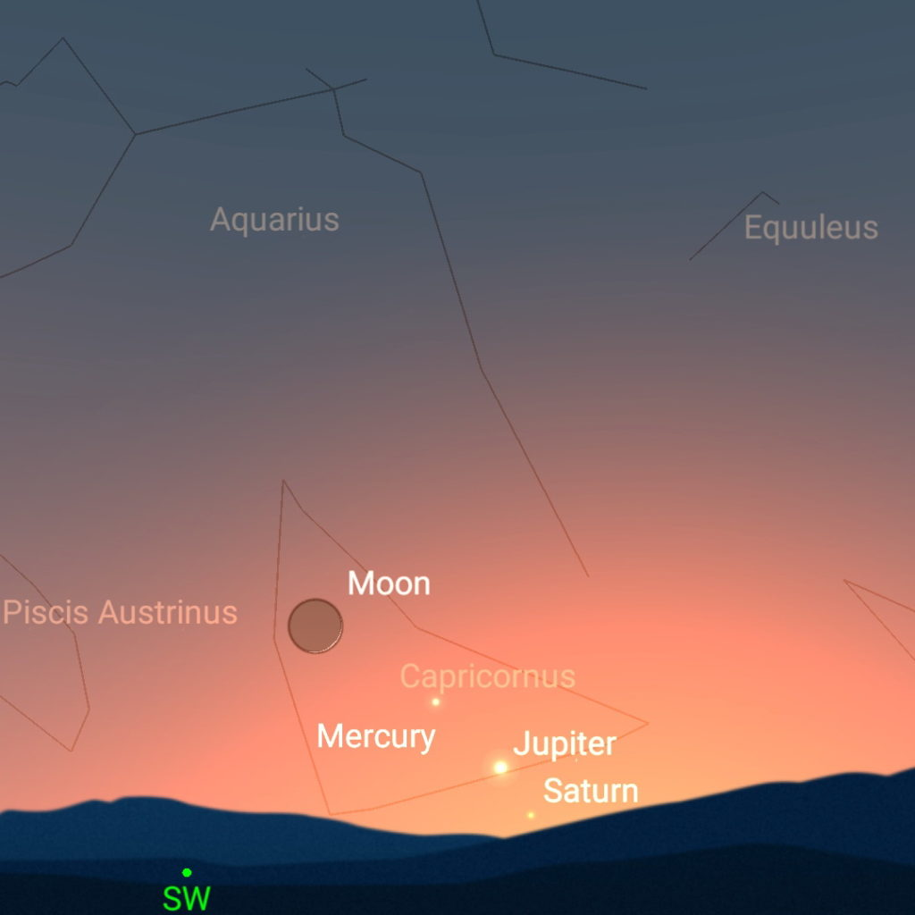 January 14th, evening sky.
