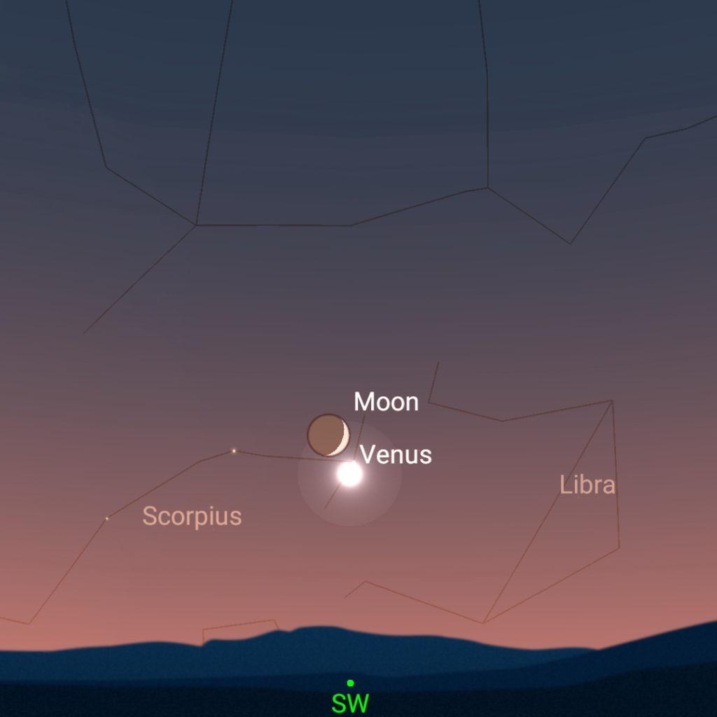October 9th, evening sky.
