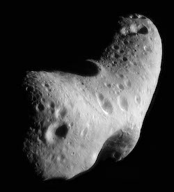 The NEAR-Shoemaker space probe encountered the S-type asteroid 433 Eros in 2000.
