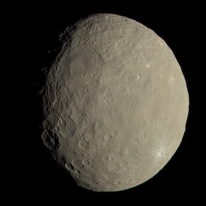 The largest asteroid, 1 Ceres, as imaged by NASA's Dawn spacecraft.