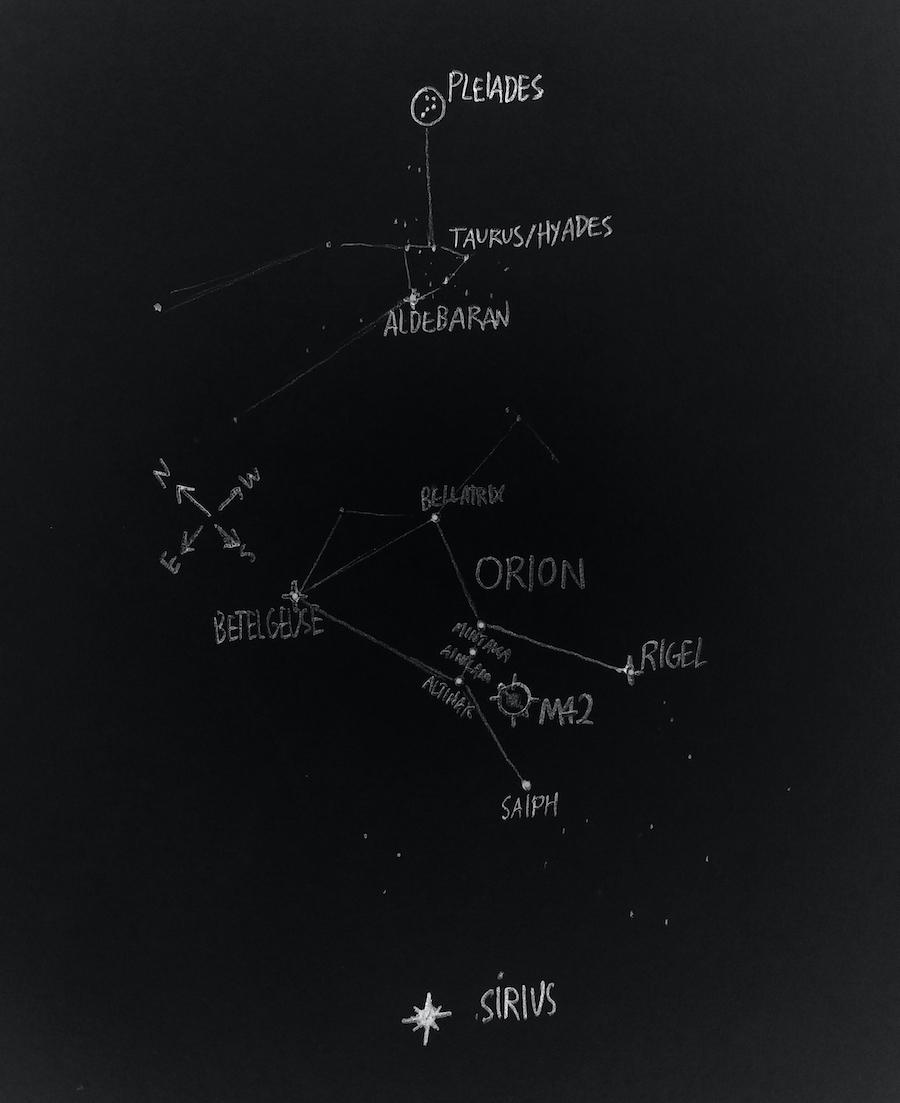 Pleiades M42 map
