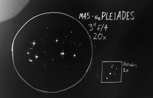 Messier 45 sketch