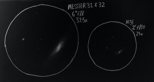 Messier 31 sketch