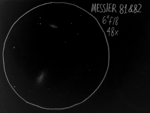 Messier 81 & Messier 82 sketch
