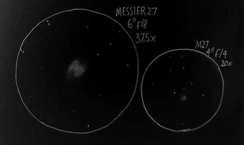 Messier 27 sketch
