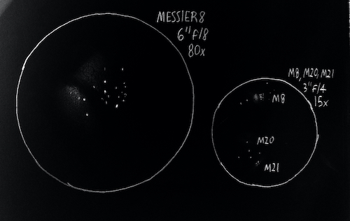 Messier 8 sketch